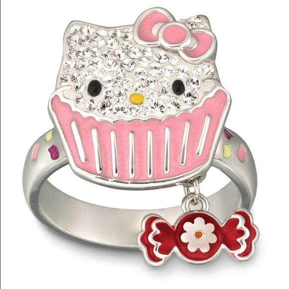 0acce0077 Swarovski Jewelry | Hello Kitty Cupcake Ring | Poshmark